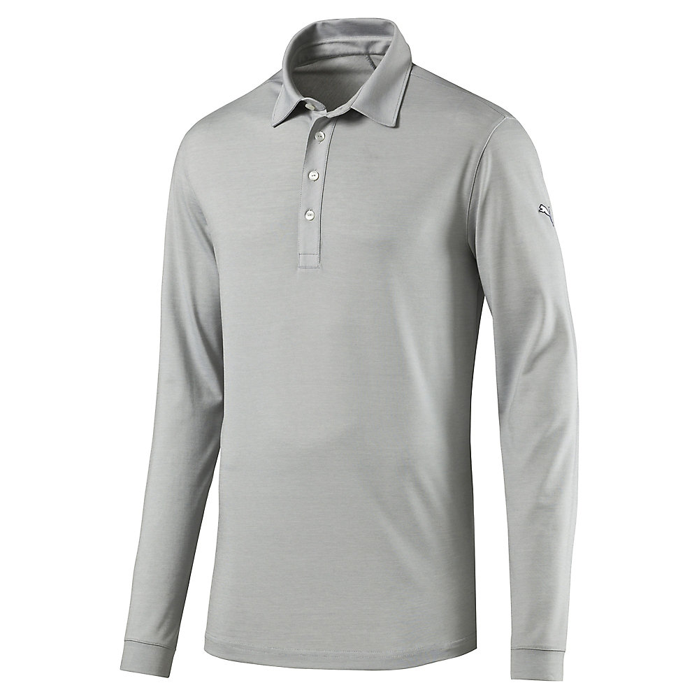 Home › Tailored Microstripe Long Sleeve Golf Polo. Previous; Next